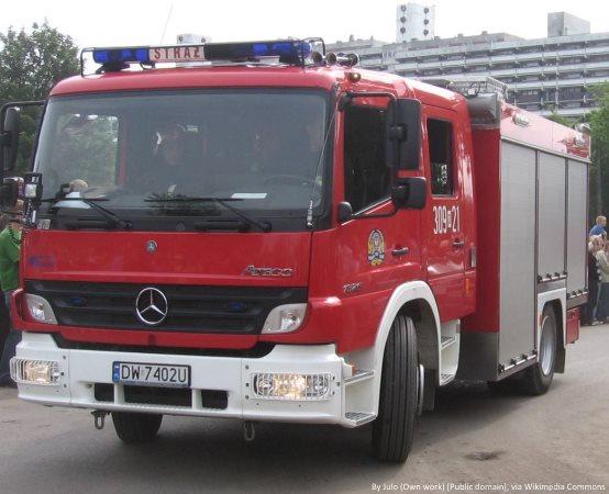 KWPSP Białystok:  Kontynuacja działań hajnowskich strażaków na przejściu granicznym w Siemianówce